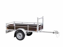 aanhangwagen met aluminium zijwanden