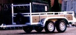 aanhangwagens twee assen 750kg