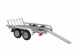 motoraanhangwagen met oprijplaat optioneel
